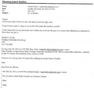 Illegal email exchange between Mayor John Rey and Herb Rubin