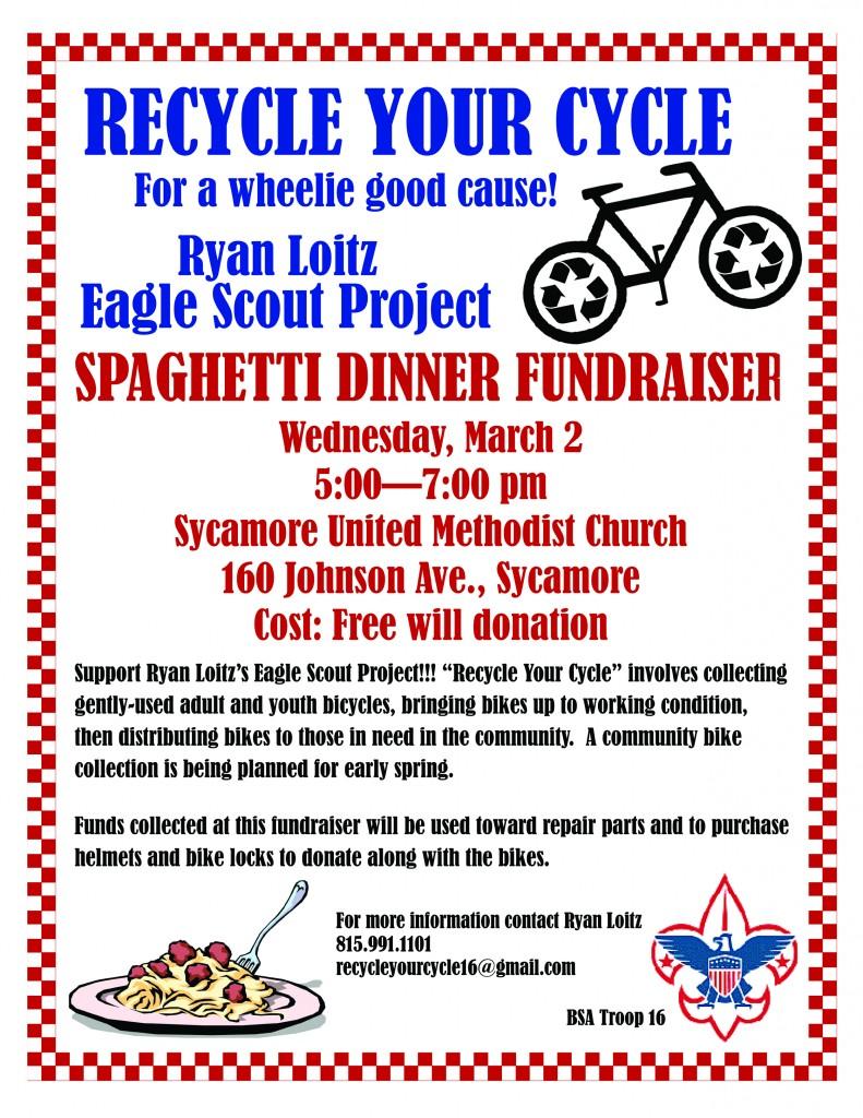 Poster-Spaghetti Dinner Fundraiser-SM