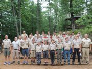 BSA scouts and leaders from Troop 16 at Tesomas Scout Camp near Rhinelander, WI.