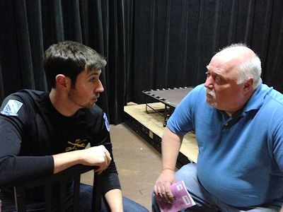"Aaron George (left) and Dan Hyde (right) are actors in Stage Coach Players' ""Bill W. and Dr. Bob."""
