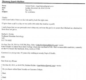 Illegal email exchange between Mayor John Rey and Herb Rubin