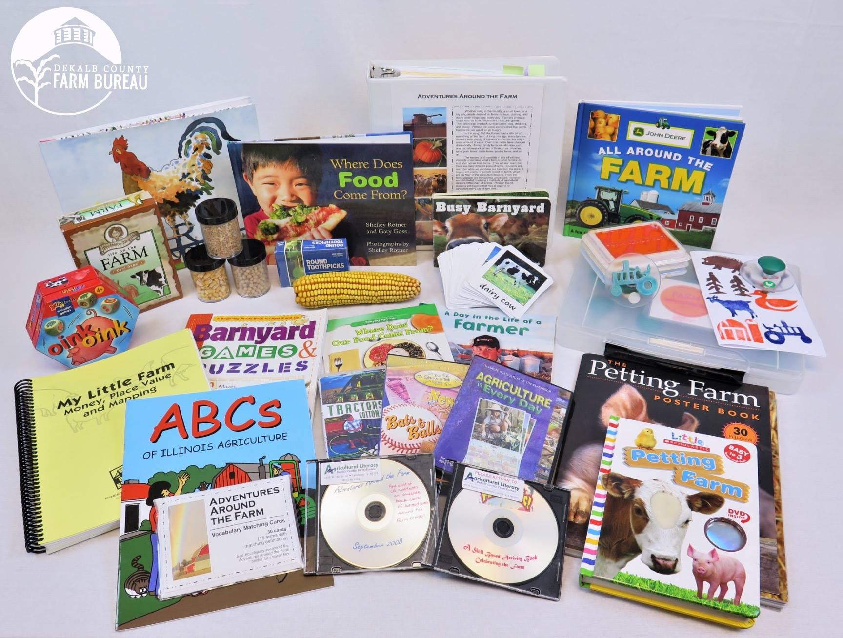 DeKalb County Farm Bureau has dozens of educational kits like this