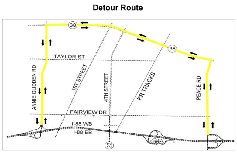 Tollway Illinois Map.Illinois Tollway To Begin Resurfacing Interchange Construction