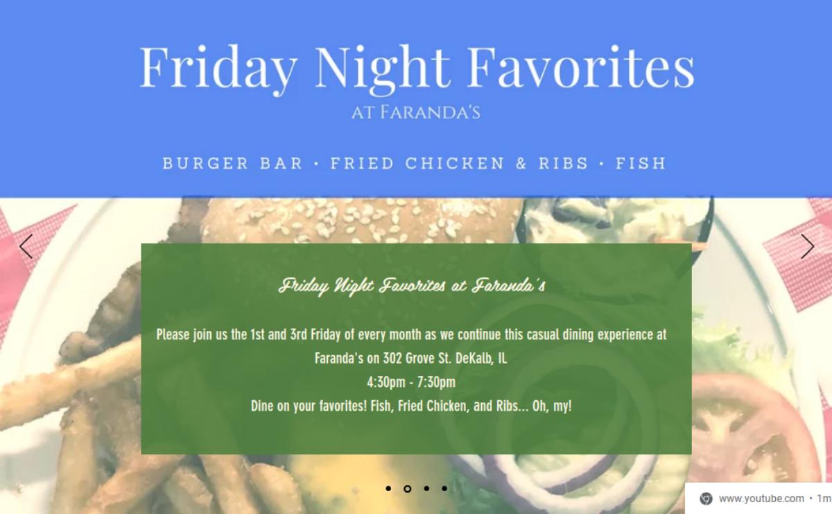 Faranda's Friday Night Favorites