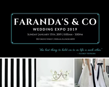 if youre planning a wedding in 2019 or are a wedding vendor circle sunday january 13 2019 on your calendars for the 2019 farandas wedding expo
