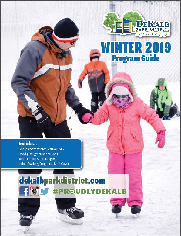 dekalb, park district, winter, programs, kids