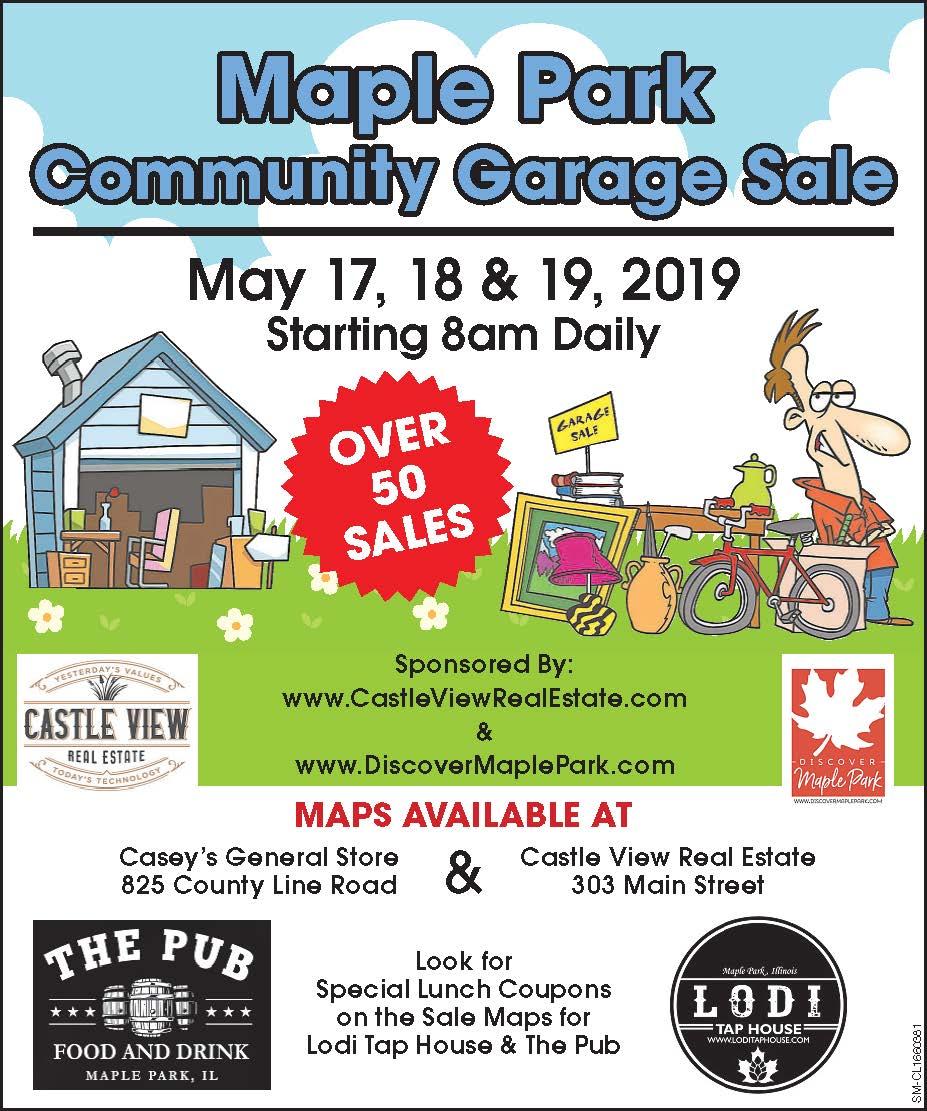 Castle View Presents Maple Park Community Garage Sale
