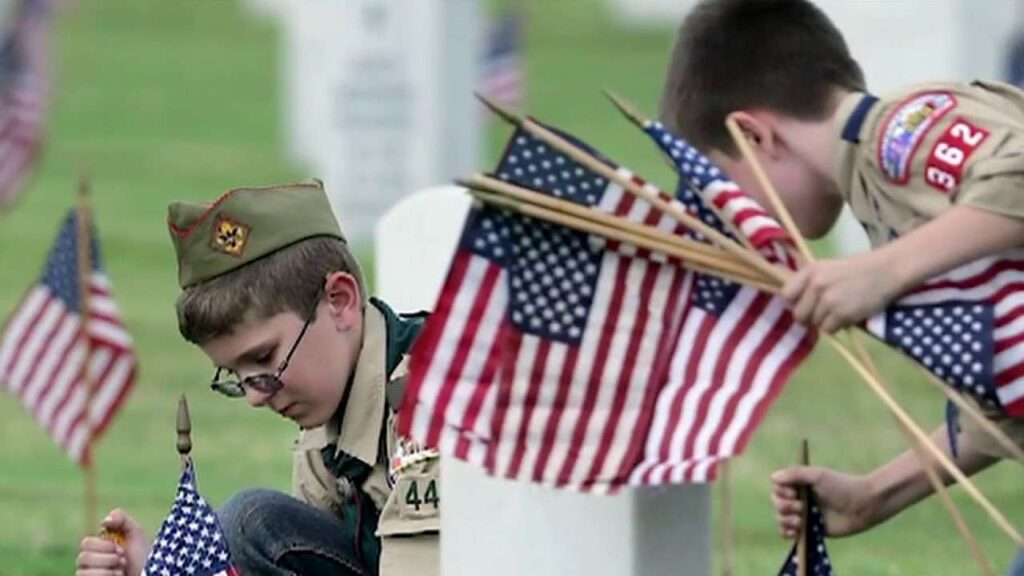 Memorial Day Update: Local Scouts, Families and American Legion Member Honors DeKalb Veteran's Gaves with Flags