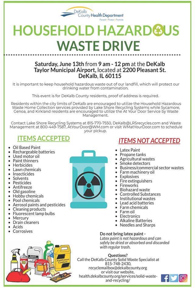 Household Hazardous Waste Drive - DeKalb County