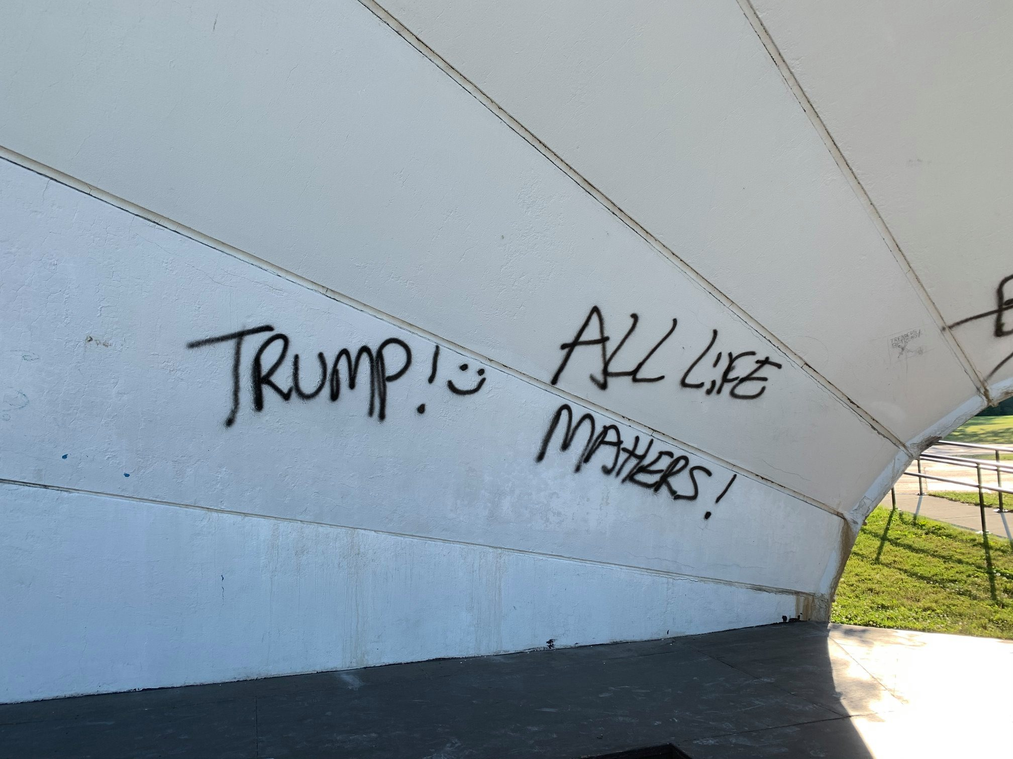 Community Band Shell Vandalized