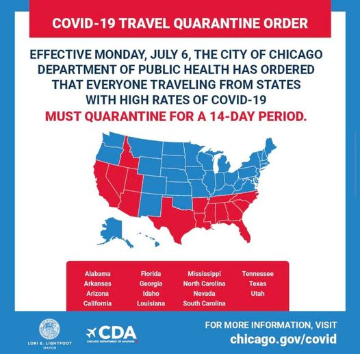 Travel Alert: Travelers Arriving from 15 States Must Self-Quarantine