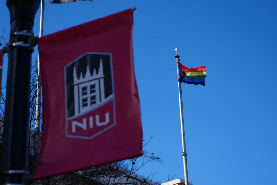Progress LGBTQ+ Pride Flags being displayed on campus for first time