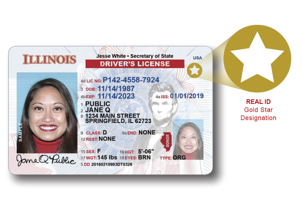 Illinois Traveler's Options For Real ID Cards