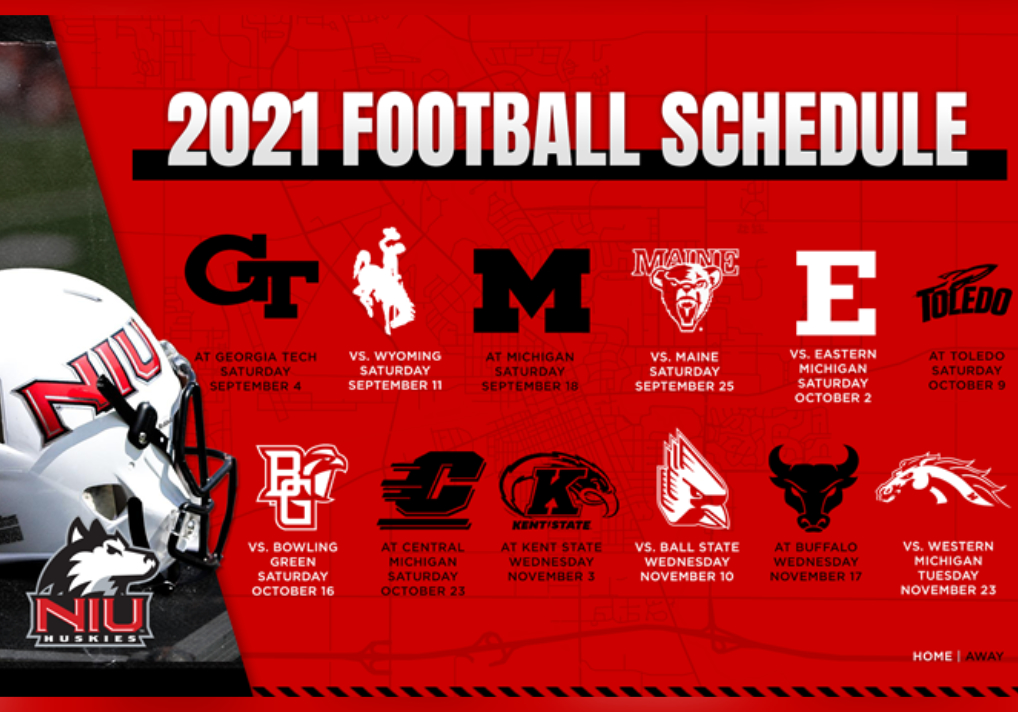NIU Releases 2021 Football Schedule