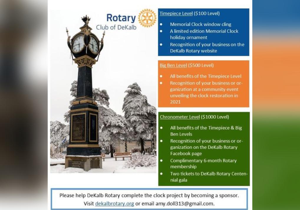 DeKalb Rotary Wants To Keep DeKalb On Time